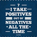 7 Take Positives Out Inspirational Quotes Poster by Lab No 4