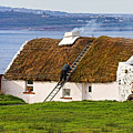 Traditional Thatch Roof Cottage Ireland by Pierre Leclerc Photography
