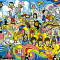 70 illustrated Beatles' song titles by Ron Magnes