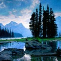 Nature Oil Paintings Landscapes by World Map