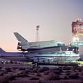747 With Space Shuttle Enterprise Before Alt-4 by Brian Lockett