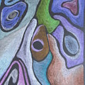 #758 Abstract Drawing by Karen Henninger