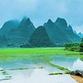 Karst Rural Scenery In Raining by Carl Ning