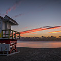 7935- Miami Beach Sunrise 14x25 by David Lange