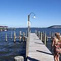 Indian River Lagoon At Eau Gallie In Florida Usa by Allan  Hughes