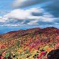 Beautiful Autumn Landscape In North Carolina Mountains by Alex Grichenko