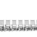 8 Chairs... - 8 Chaises... by R Fafard
