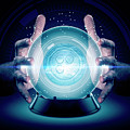 Hands On Crystal Ball And Cryptocurrency by Allan Swart