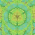 Indian Fabric Pattern by Sandrine Kespi
