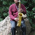 Muslim Jazz Musician. by Oscar Williams