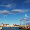 Old Sailing Boats In Helsinki City Harbor Port Finland by Jacek Malipan