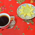 On The Eve Of Christmas. Tea Drinking With Cheese. by Mariia Kilina