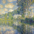 Poplars, On The Epte by Claude Monet