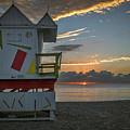 8041- Miami Beach Sunrise by David Lange