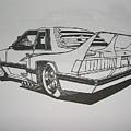 80s Mustang - Rear View by Jeff Schwerdtfeger