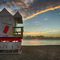 8990- Miami Beach Sunrise by David Lange