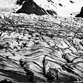 ash covered Skaftafell glacier and end moraine Vatnajokull national park in Iceland by Joe Fox