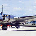 B-17 Bomber Parking by Mike Wheeler