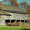 Hallockville Farm Barn Li.ny by Terry McCarrick