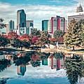 Charlotte City North Carolina Cityscape During Autumn Season by Alex Grichenko
