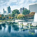 Charlotte North Carolina Cityscape During Autumn Season by Alex Grichenko