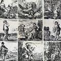 9 Gods And Goddesses by Stefano della Bella