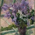 Lilacs In A Window by Mary Cassatt