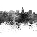 Lincoln Skyline In Watercolor Background by Pablo Romero