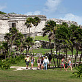 Mayan Temples At Tulum, Mexico by Anthony Totah