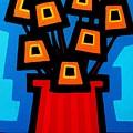 9 Orange Poppies by John  Nolan