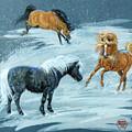 #9 - Ponies In Snow by Jeanne Mellin Herrick