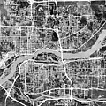 Quad Cities Street Map by Michael Tompsett