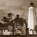 Sandy Hook Lighthouse Nj  by Skip Willits