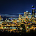 Seattle Skyline At Night by Cityscape Photography