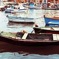 Traditional Boats At Marsaxlokk Harbor In Malta by Otto