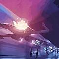 Video Star Wars Art by Larry Jones