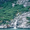 Waterfall In Tracy Arm Fjord, Alaska by Alex Grichenko
