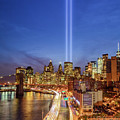 911 Tribute In Light In Nyc II by Susan Candelario