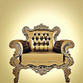 A A G - Antiquearmchairgold by Nenad Cerovic