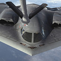 A B-2 Spirit Bomber Prepares To Refuel by Stocktrek Images