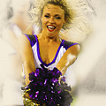A Baltimore Ravens Cheerleader  by Don Kuing