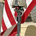 A Battlefield Memorial Cross Rifle by Stocktrek Images
