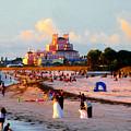 A Beach Scene by David Lee Thompson