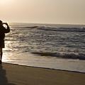 A Beach Walker Photographs Sunrise by Stephen St. John