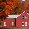 A Beautiful Country Building In The Fall 2 by Jeelan Clark