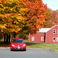 A Beautiful Country Building In The Fall 4 by Jeelan Clark