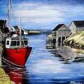 A Beautiful Day At Peggy's Cove  by Patricia L Davidson