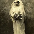 A Beautiful Vintage Photo Of Coloured Colored Lady In Her Wedding Dress by R Muirhead Art