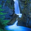 A Beautiful Waterfall, Johnston Canyon by Don Hammond