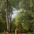 A Beech Wood In May Near Iselingen Manor by Peter Christian Skovgaard